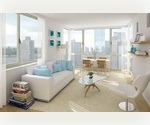 2 Bedrooms, 2 Marble Bathrooms, in Midtown West. Stainless Steel Appliances, Dishwasher, Hardwood Floors, Floor to Ceiling Windows Perched High on the 22nd Floor with Washer and Dryer in the Apartment.