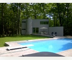 SECLUDED TWO ACRE DEERFIELD CONTEMPORARY, HEATED POOL/SPA